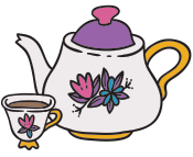 Tea pot and tea cup icon